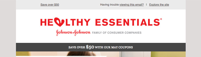 Healthy Essentials Email Newsletter