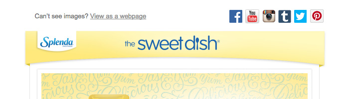The Sweet Dish Email Newsletter