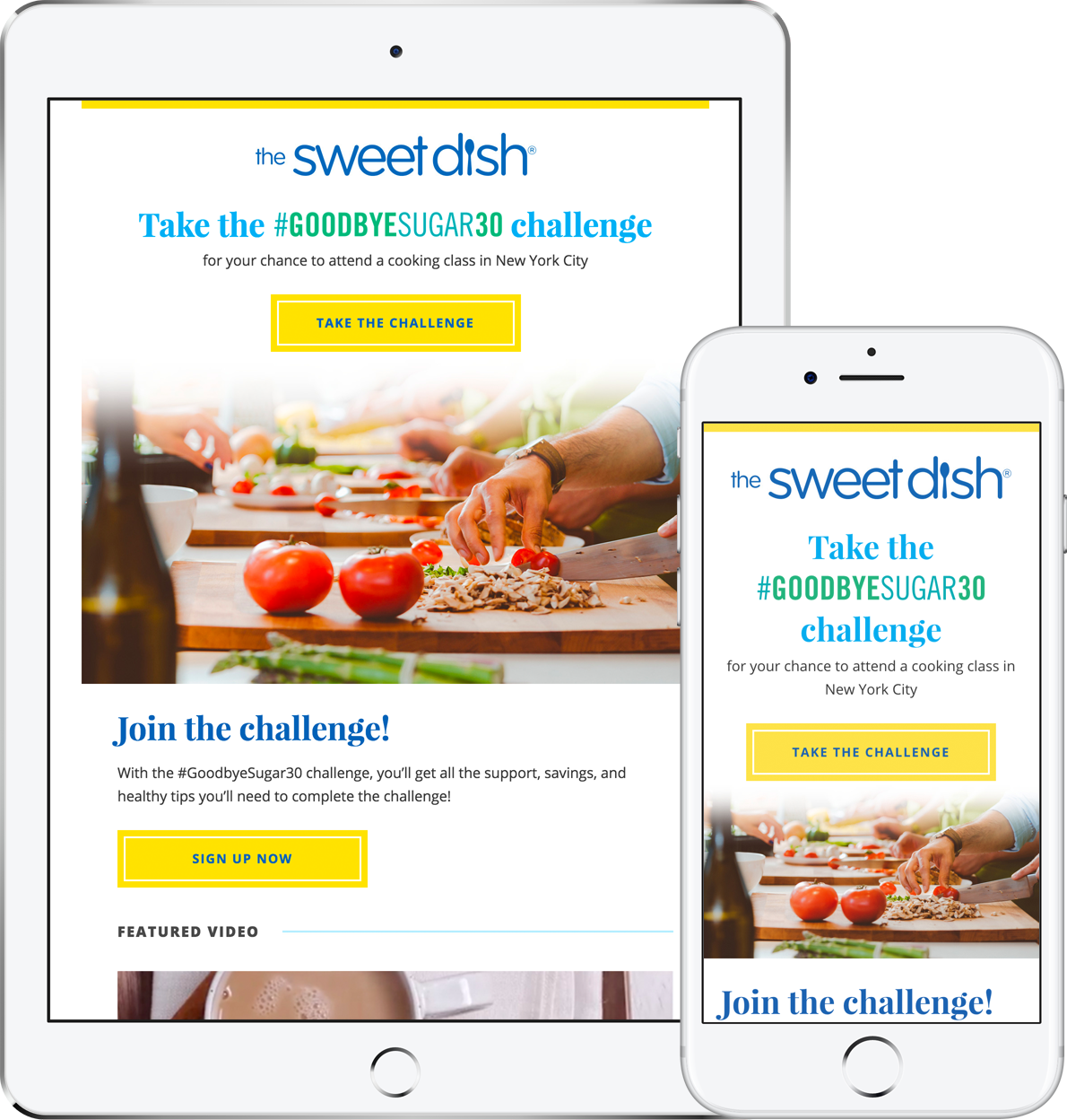 The Sweet Dish Email Newsletter 2017